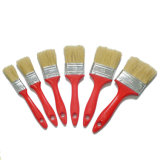 Cepillo plano de la cerda de la mezcla de la maneta plástica blanca profesional del color (GMPB015)