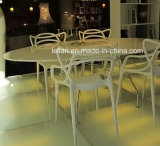 Plástico moldeado de los PP que empila cenando la silla, silla de jardín al aire libre (LL-0052)