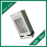 Ajuste de blancos personalizado Regalo Joyeria Caja con ventana de PVC