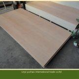 Certificat FSC BB/CC Grade contreplaqué rouge avec placage de bois feuillus face