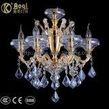 Goldenes Wasser blaues KristallChandellier Licht
