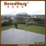 지면 - 테라스 (SJ-H915)를 위한 거치된 304 스테인리스 유리제 방책 포스트