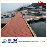 Hölzerne zusammengesetzte sich hin- und herbewegendes Dock-Plastikponton-Plastikplattform