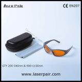 Ostenta o tipo de vidros de segurança do laser 532nm & 1064nm para 2 a linha YAG e Ktp/remoção 200-540nm & 900-1100nm do tatuagem com frame 55