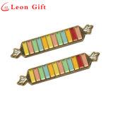 Fabrik-kundenspezifischer Decklack-bunter Regenbogen-nette Süßigkeit-Revers-Stifte
