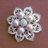 Silberne Blume perlt Broschen mit Qualität