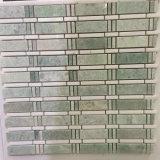 Mosaico popolare della pietra di colore verde delle mattonelle della parete di disegno da vendere