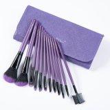 12PCS cepillo profesional del maquillaje con la caja púrpura de la PU