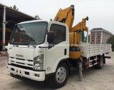 Isuzu 4X2 6 rueda 3 toneladas de carro del auge montado con la grúa capaz del doblez
