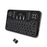 Q9 colorido Teclado inalámbrico mini teclado inalámbrico 2.4G retroiluminado.