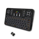 Tastatur des Radioapparat-Q9 bunte mini drahtlose Tastatur Backlit 2.4G