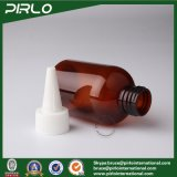 100ml 3.3oz Amber Plastic Bottle with Unicorn Cap for Pharmaceutical