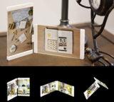 """Leggyhorse4"""" X 6"""" de acrílico transparente flexible marco de fotos, marcos desmontable para cambiar fácilmente la forma, color blanco/negro, el conjunto de bastidor 2"""