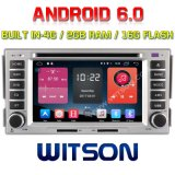 Lettore DVD dell'automobile del Android 6.0 di Quadrato-Memoria di Witson per il RAM 2g Bulit della Hyundai Santa Fe 2007-2011 in ROM di 4G 16GB