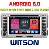 Hyundai 산타페이 2007-2011 4G 16GB ROM에 있는 2g 렘을%s Witson 쿼드 코어 인조 인간 6.0 차 DVD 플레이어 Bulit