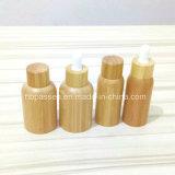 De nieuwe Kosmetische Fles van het Huisdier van de Aankomst Plastic met Bamboe GLB (ppc-BS-002)