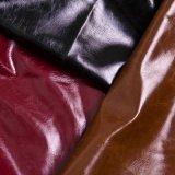 Couro de sapatas sintético do PVC do plutônio do brilho superior do Sell