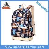 Estudante de lona impresso moda mochila Laptop Saco Escola para meninas