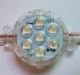 Programable de luz LED RGB IP67 7LEDs 5 cm Punto de luz LED Fuente