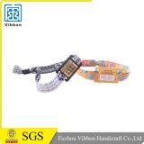 Bracelet bon marché personnalisé d'IDENTIFICATION RF de tissu tressé