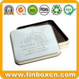 Квадратная коробка олова, жестяная коробка упаковывая, контейнер олова металла подарка