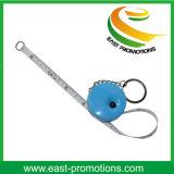 昇進項目小型鋼鉄巻尺の金属のキーホルダー