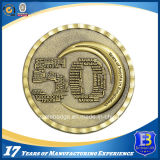다이아몬드 가장자리를 가진 선전용 3D 고대 금관 악기 도전 동전