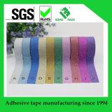 Cinta adhesiva de colores Glitter para decoración y Carfting