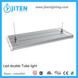 LED 관 전등 설비 T5는 가벼운 관 2400mm 60W UL ETL Dlc 증명서에 LED 이중으로 한다
