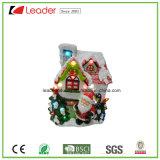 Статуя дома Санта подарков рождества магния с светом СИД для домашнего украшения