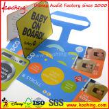 Papel rígido promocional personalizado Etiqueta de retângulo de PVC Etiqueta de salto