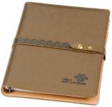 두꺼운 표지의 책 느슨한 잎 관례에 의하여 인쇄되는 PU 가죽 노트북