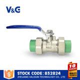 Válvula de bola sanitaria de PPR del acero inoxidable (VG-A76011)