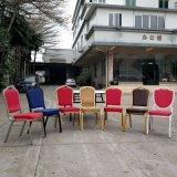 فندق [&رستورنت] زرقاء نوع ذهب فولاذ يكدّس مأدبة كرسي تثبيت