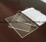 Placa de vidro de quartzo retangular polido com cantos redondos