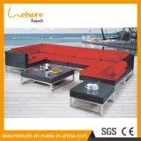 Outdoor Patio Garden Furniture PE Rattan Wicker Alumínio Corner Sofa Set