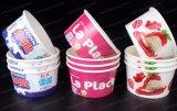 Taza de papel colorida de la categoría alimenticia del almacenaje del helado
