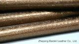 Textura de alta qualidade Faux Sofashoe PVC de pele com efeito pérola