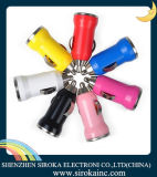 LEDを持つ単一か二重USBの弾丸の形の携帯電話車の充電器