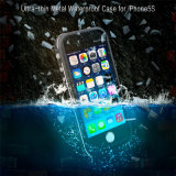 Cas de téléphone cellulaire étanche avec bouclier de protection en métal pour iPhone 5 5s