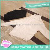 Camisola Feita Malha Preto do Branco Cinzento Caçoa Casaco de Lã do Bebê
