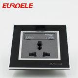黒い電気250V/13A 86*86*37mm USBのプラグの壁のソケット