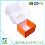 Caja de cartón plegable barata impresa insignia blanca de la camiseta