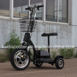 3-wiel de Elektrische Elektrische Autoped van de Mobiliteit van het Voertuig van het Sightseeing 350W met Mand