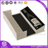 Коробка вина подарка специальной бумаги конструкции одиночная упаковывая