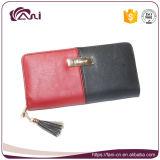 Бумажник PU длиннего типа цвета контраста бумажника застежки -молнии женщин конструкции многофункционального нового кожаный
