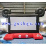 Écran de projection arrière gonflable pour le cinéma extérieur / Type gonflable populaire Écran de film