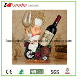 Polyresin personalizou o suporte do vinho para o presente relativo à promoção e a decoração Home