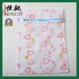 Сильный сетчатый мешок прачечного сетки с печатание цветка