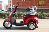 Triciclo eléctrico de tres ruedas con la cesta posterior para Handicapped